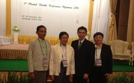 Chee, Ma Hong, Prof Win at 3rd Myanmar MH Conference