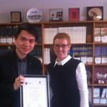 Henry Hui and Bridget Organ at the May 2016 POST program graduation